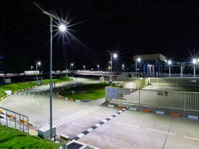 solar street light economy energy
